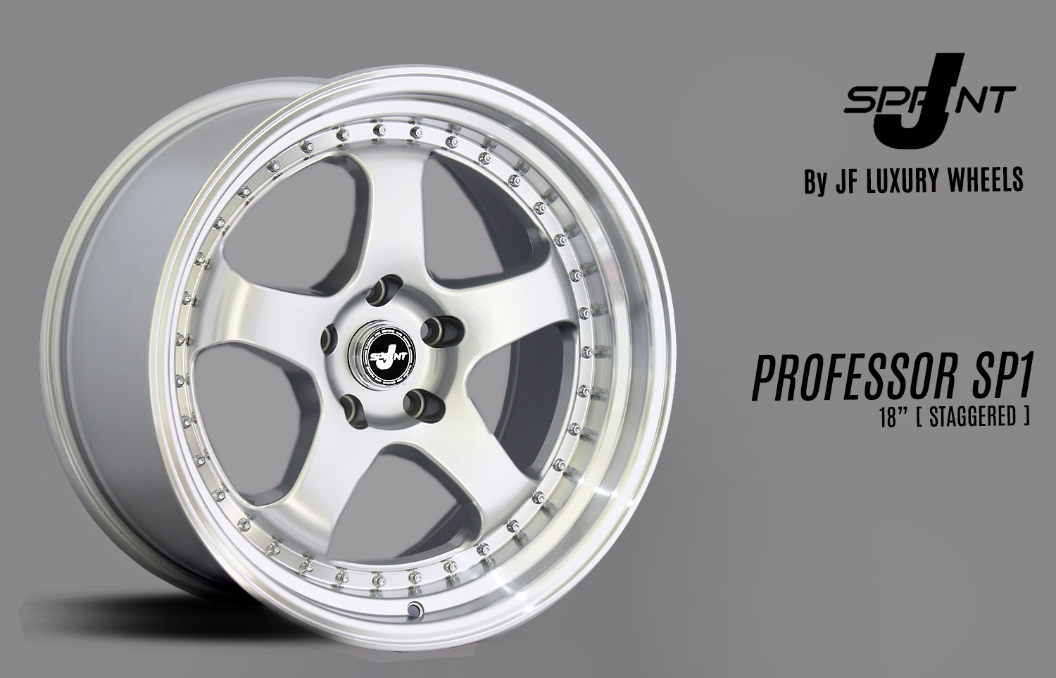 PROFESSOR SP1 SILVER LIP POLISH 18x9,5-10,5 5x114,3 +30-+25 IG