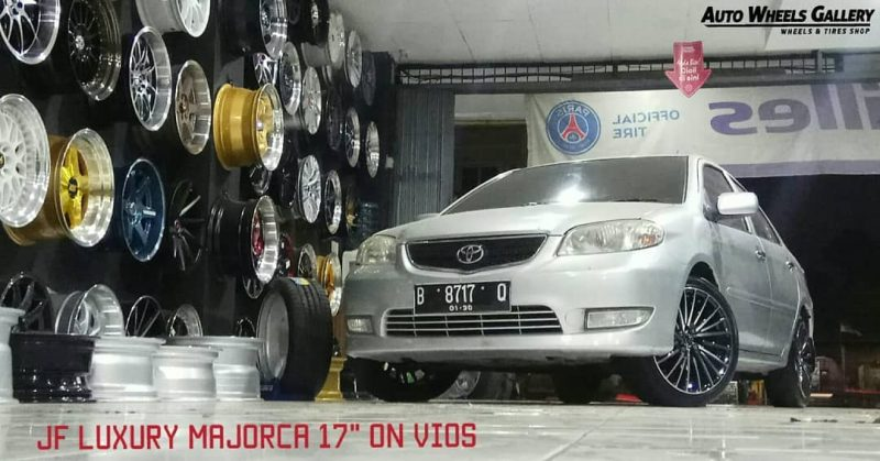 Toyota Vios On Majorca 17x7.5 8x100/114.3 +42 By JF Luxury