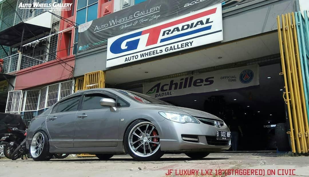 Honda Civic On Lxz 18x8.5/9.5 5x114.3 By JF Luxury