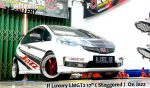 Honda Jazz On LMGT2 17x7.5/8.5 8x100/114.3 By JF Luxury