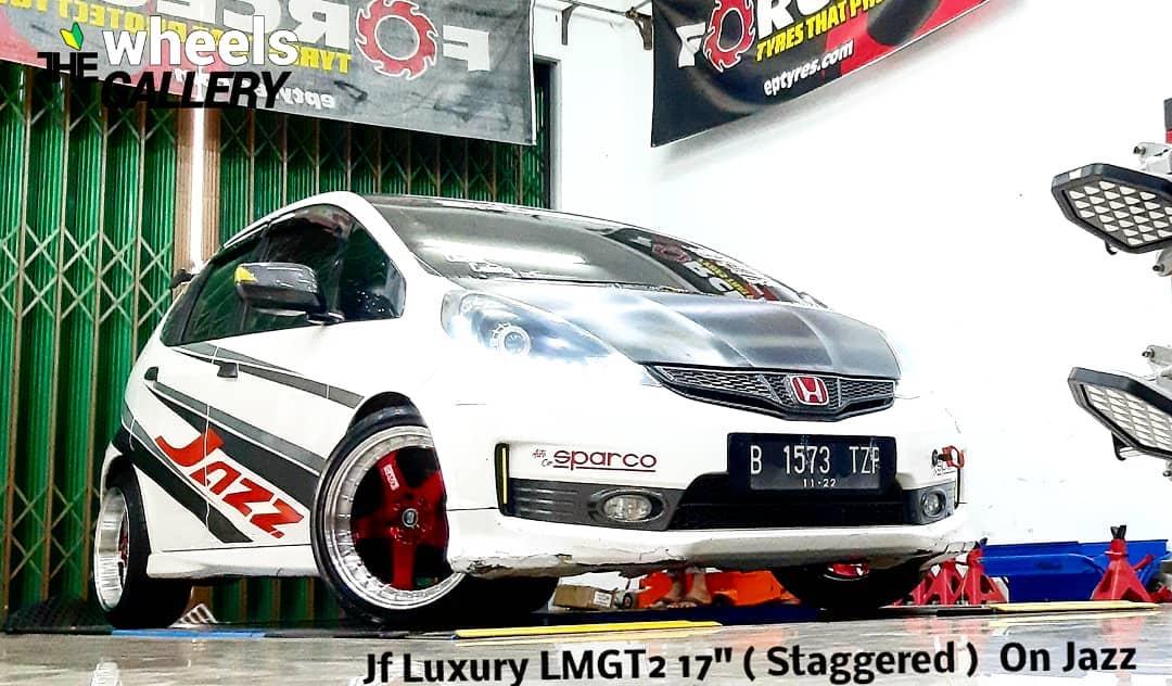 Honda Jazz On LMGT2 17x7.5/8.5 8x100/114.3 By JF Luxury