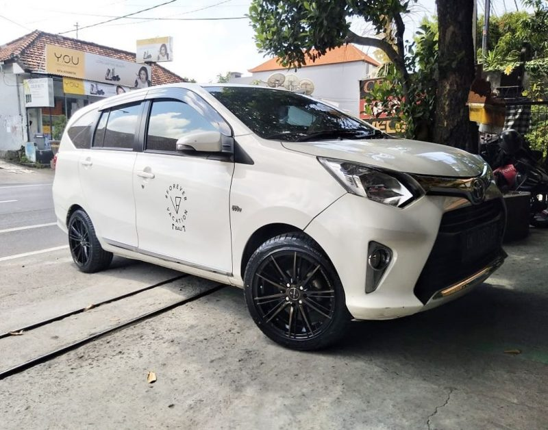 Toyota Calya On Furious Black Machine Face+Black Coating 16x7.0 8x100/114.3 By JF Luxury