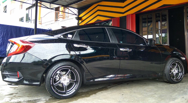 Honda Civic On WELD JF Luxury