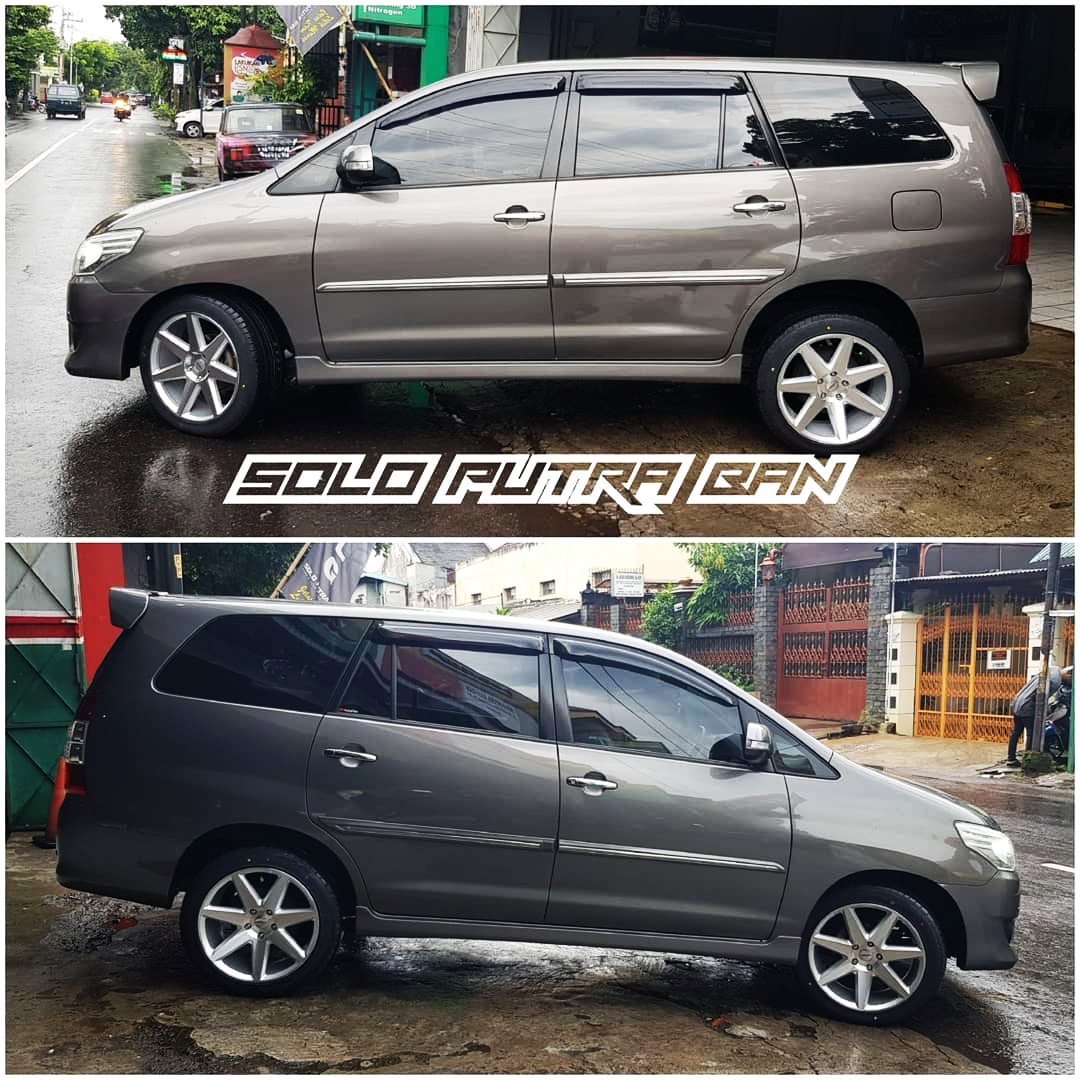Toyota Kijang Innova On 70523 Silver Machine Face 18x8.0/9.0 5x114.3 By JF Luxury
