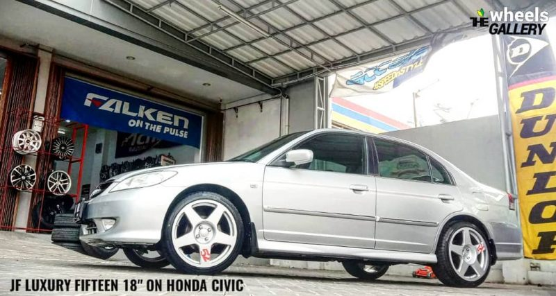 Honda Civic On @jf_luxury fifteen 52 18x8.5| 4x100 | +40