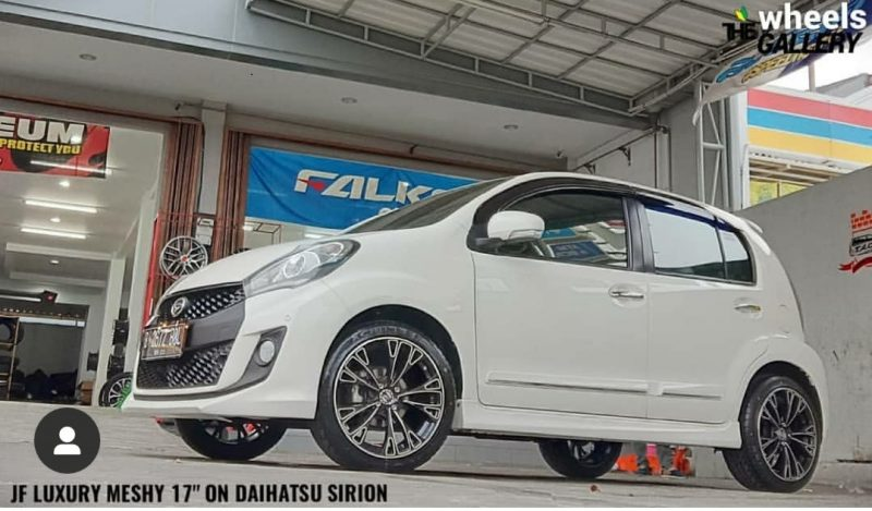 Daihatsu Sirion On MESHY Black Machine Face 17x7.5 8x100/114.3 : +42 By JF Luxury Wheels