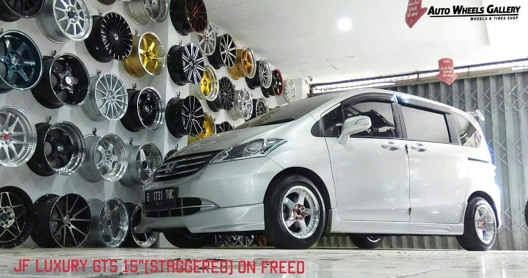 Honda Freed On GT5 Silver Machine Face/Lip+Chrome Rivets 15x7.0/8.5 8x100/114.3 +38 +30 By JF Luxury Wheels
