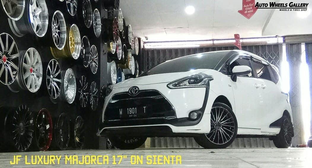 Toyota Sienta On MAJORCA Black Machine Face 17x7.5 5x100 +42 By JF Luxury Wheels