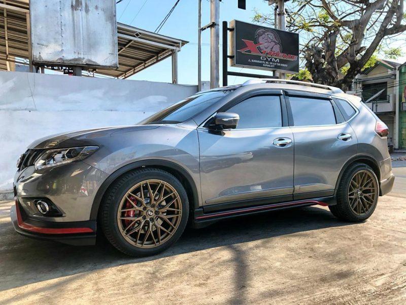 Nissan X-trail On ELVI Matt Bronze 20x9.0/10.0 5x114.3  +45 +42 By JF Luxury Wheels